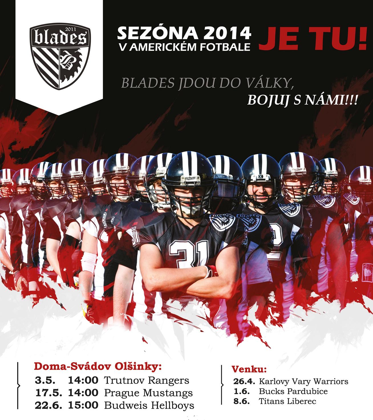 Sezona 2014 v americkém fotbale klub Blades Svádov